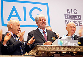Retiring boss Bob Benmosche, one of five AIG employees in the top fifty highest paid insurance executives 2013 (Photo: AIG)