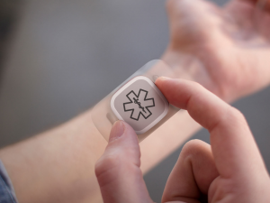 Wearable medical monitors could help doctors track patients' recovery.