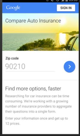Google Compare, an online auto insurance comparison tool, has launched in California.